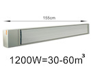 1200W Industrie-Strahlungsheizung, Räume 30-60m³, Stallheizung pulverbeschichtet
