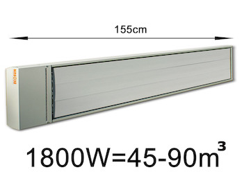 1800W Industrie-Strahlungsheizung, Räume 45-90m³, Stallheizung pulverbeschichtet