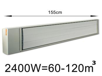 2400W Industrie-Strahlungsheizung, Räume 60-120m³,Stallheizung pulverbeschichtet