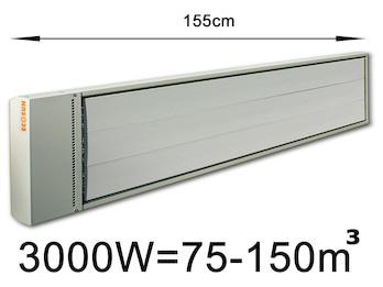 3000W Industrie-Strahlungsheizung, Räume 75-150m³,Stallheizung pulverbeschichtet