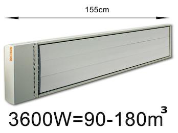 3600W Industrie-Strahlungsheizung, Räume 90-180m³,Stallheizung pulverbeschichtet