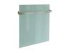Hochwertiger Handtuchhalter einfach für 300W Glaspaneele (HVH300GR) Vitalheizung