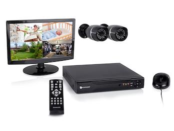 8-Kanal Überwachungssystem, 2 Kameras, 500GB, per App bedienbar