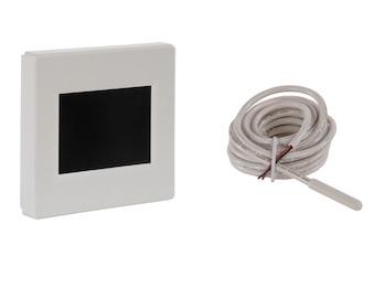 Display-Kombi-Thermostat für 2 Fühlerkreise mit Wochentags- u. Absenkprogramm