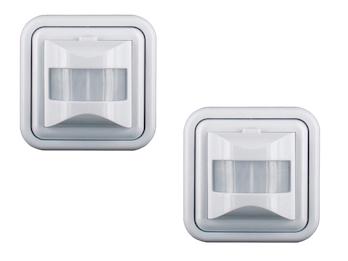 2er-Set Unterputz Bewegungsmelder, Erkennungsbereich 160°, geeignet für LEDs