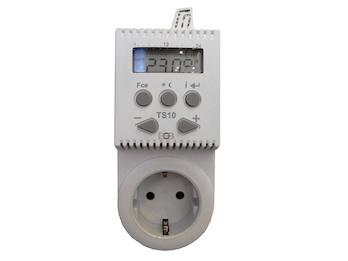 Stecker-Thermostat für Heizpaneele, 2 Heizzyklen (Absenkung), Regelbereich 3-40°