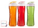 3er-Set Ersatzflaschen für Smoothie-Maker, 600ml, rot-orange-grün