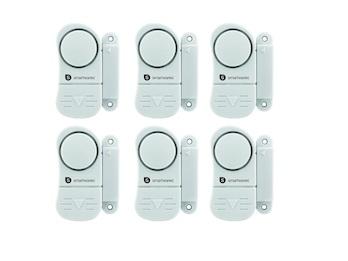 6er-Set Mini Türalarm und Fensteralarm 85dB, Einbruchschutz