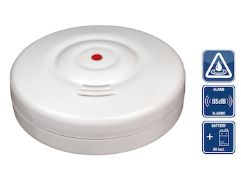 Drahtloser Wassermelder Wasseralarm Wasserwächter, 85dB inkl. Batterie