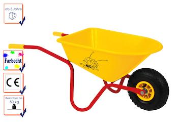 Kinderschubkarre, Gartenspielzeug -DIE BIENE MAJA-, farbecht