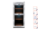 Profi Weinkühlschrank, 24 Flaschen, 5-22° C , 2 getrennte Temperaturzonen