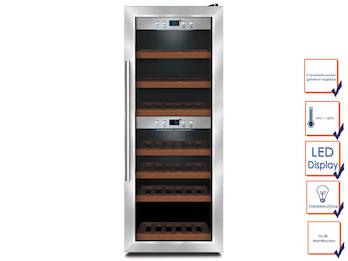 Profi Weinkühlschrank, 38 Flaschen, 5-22° C , 2 getrennte Temperaturzonen