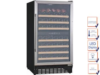Profi Weinkühlschrank, 62 Flaschen, 2 Temperaturzonen, 5-10° C und 10-18° C