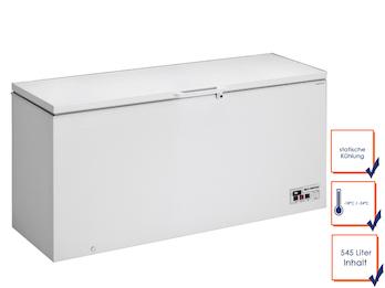 Profi Gefriertruhe, 545 Liter, statische Kühlung, -18/ -24° C, Schnellfroster