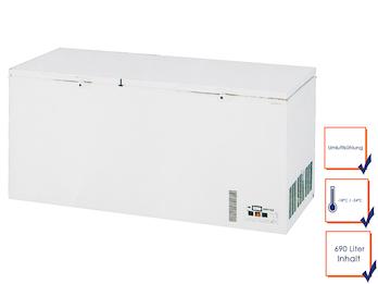 Profi Gefriertruhe, 690 Liter, Umluftkühlung, -18/ -24° C, Schnellfroster