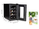 Weinkühlschrank für 8 Flaschen, 7-18° C, 21 Liter, LED Anzeige & Touchfunktion