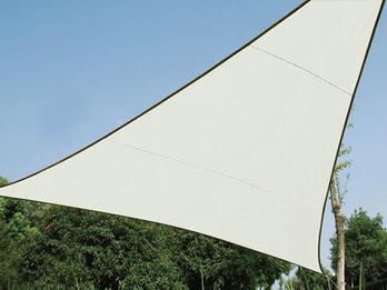 Sonnensegel Dreieck Creme 5m Sonnenschutzsegel für Balkon / Terrassensegel