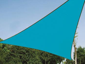Sonnensegel Dreieck Blau 3,6m Sonnenschutzsegel für Balkon / Terrassensegel