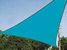 Sonnensegel Dreieck Blau 5m Sonnenschutzsegel für Balkon / Terrassensegel