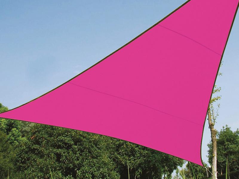 Sonnensegel Dreieck Pink 5m Sonnenschutzsegel für Balkon / Terrassensegel