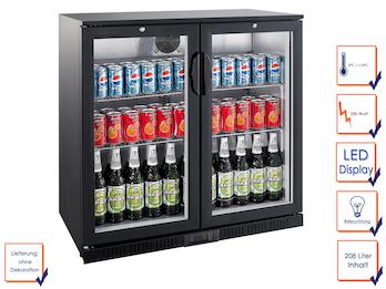 Profi Getränkekühlschrank, 208 Liter, 0° C/ +10° C, Umluftkühlung, abschließbar