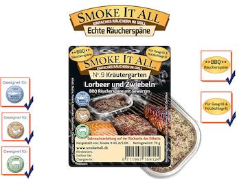BBQ Räucherspäne Räuchermischung mit Gewürzen - KRÄUTERGARTEN -