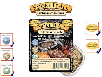 BBQ Räucherspäne Räuchermischung mit Gewürzen - SOMMERWALD -