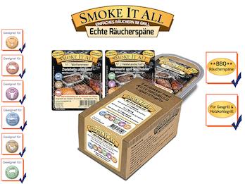 BBQ Räucherspäne Räuchermischung mit Gewürzen - MIX PACK Nr. 01 -