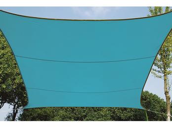 Sonnensegel Quadratisch Blau 3,6m - Sonnenschutz für Terrasse / Balkon