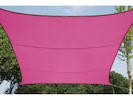 Sonnensegel Quadratisch Pink 3,6m - Sonnenschutz für Terrasse / Balkon