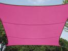 Sonnensegel Quadratisch Pink 5x5m - Sonnenschutz für Terrasse / Balkon