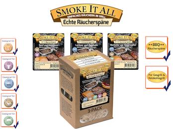 BBQ Räucherspäne Räuchermischung mit Gewürzen - MIX PACK Nr. 02 -