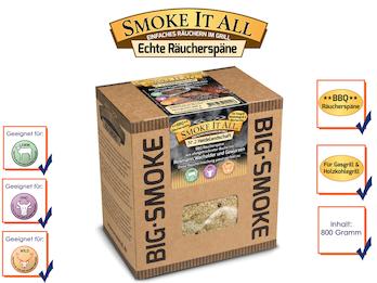BBQ Räucherspäne Räuchermischung mit Gewürzen 800gr. - HEIDELANDSCHAFT -
