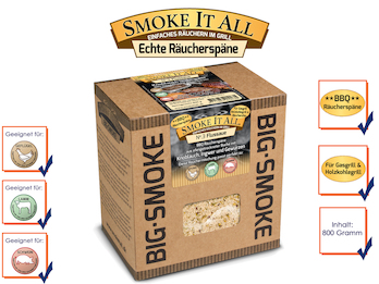BBQ Räucherspäne Räuchermischung mit Gewürzen 800gr. - FLUSSAUE -