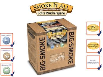 BBQ Räucherspäne Räuchermischung mit Gewürzen 800 gr. - KRÄUTERGARTEN -
