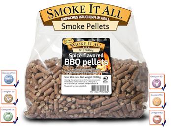 BBQ Grill Pellets Räucherpellets Buchenholz mit Gewürzen 1,0 kg