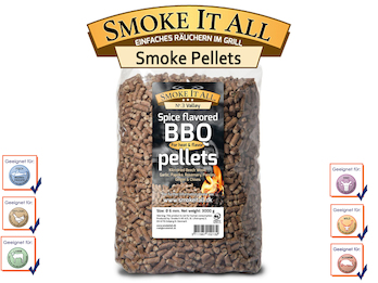 BBQ Grill Pellets Räucherpellets Buchenholz mit Gewürzen 3,0 kg