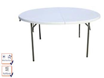 Toolland Robuster und stabiler Gartentisch aus Kunststoff mit Stahlgestell