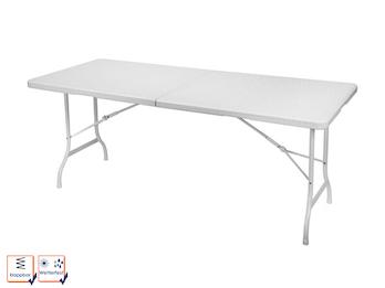 Stabiler Gartentisch Klapptisch aus Kunststoff mit Stahlgestell, 180 cm