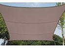 Sonnensegel Quadratisch Braun 3,6m - Sonnenschutz für Terrasse / Balkon