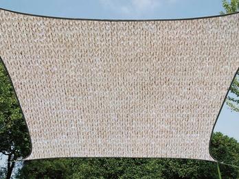 Sonnensegel Quadratisch wasserdurchlässig Champagner 25m²  für Terrasse