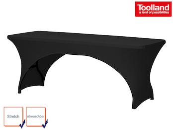 Hochwertige, pflegeleichte Tischhusse für rechteckigen Tisch schwarz