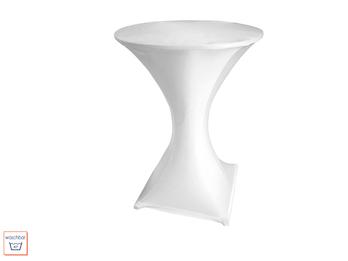 Stabiler Stehtisch /Klapptisch in weiß als Komplettset mit Husse weiß