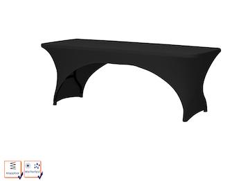 Robuster und stabiler Klapptisch aus Kunststoff komplett mit Husse, schwarz