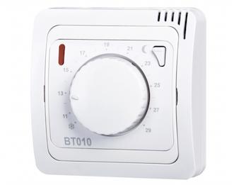 Funk-Raumthermostat, Thermostat mit Drehregler, Nachtabsenkung, Frostschutz