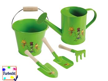 Gartenspielzeug für Kinder -DIE BIENE MAJA- Sandspielzeug Eimer Gießkanne