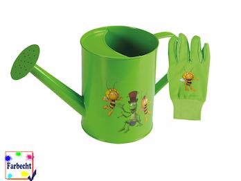 Gartenspielzeug für Kinder ab 7 Jahre -DIE BIENE MAJA- Gießkanne und Handschuhe