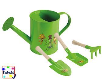 Gartenspielzeug für Kinder -DIE BIENE MAJA- Sandspielzeug und Gießkanne