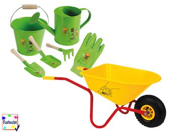 Gartenspielzeug-Set mit Schubkarre -DIE BIENE MAJA-