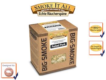 BBQ Räucherspäne Räuchermischung mit Gewürzen 800 gr. - Pulled Pork -